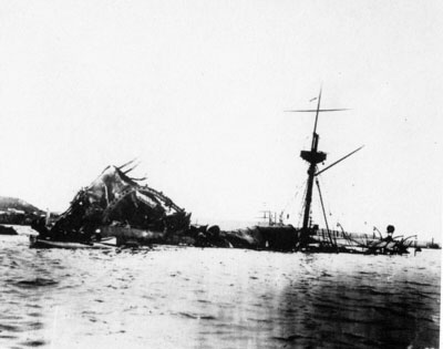 Wreckage of the USS Maine (ACR-1), 1898